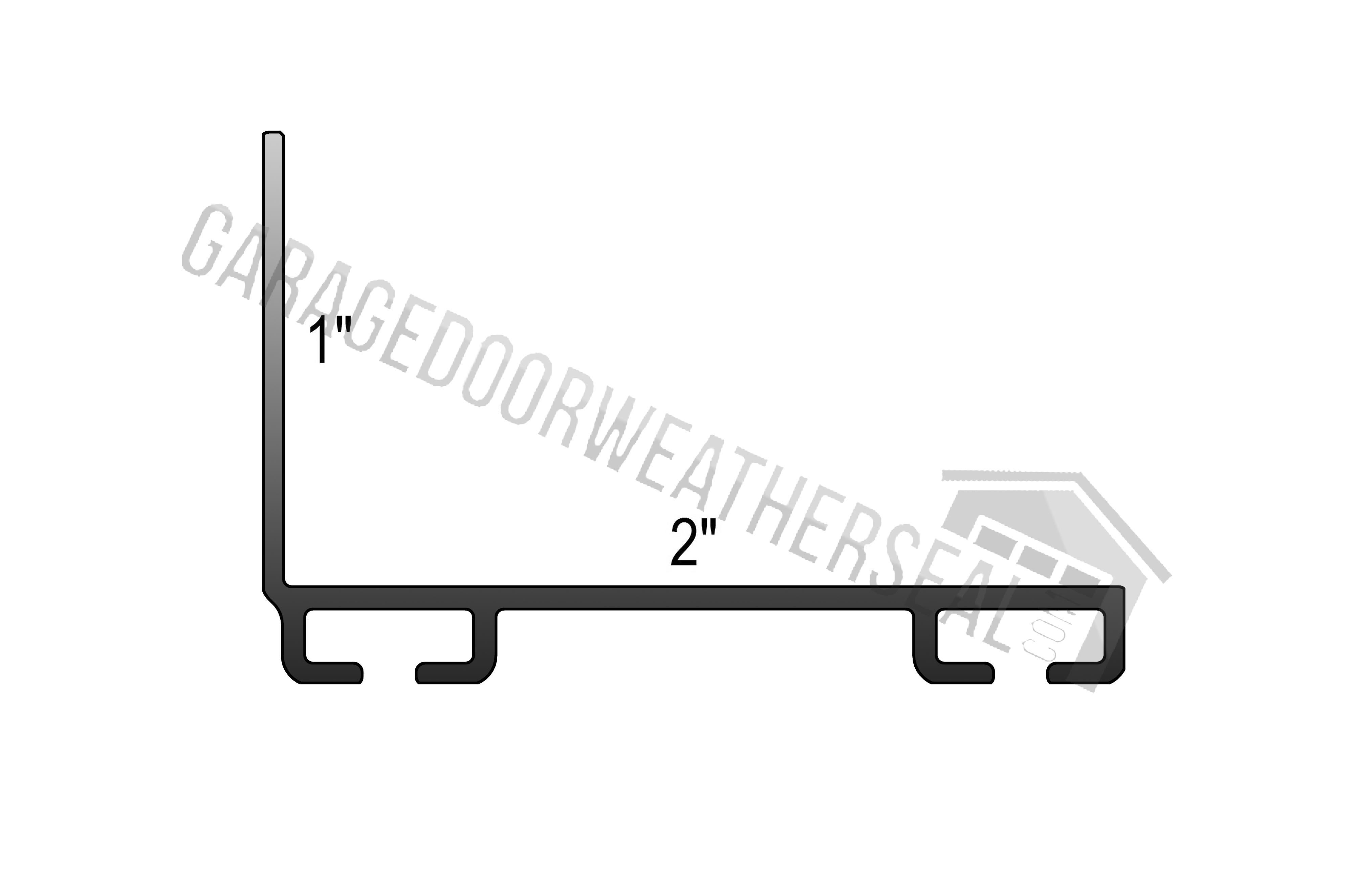overhead door bottom seal retainer
