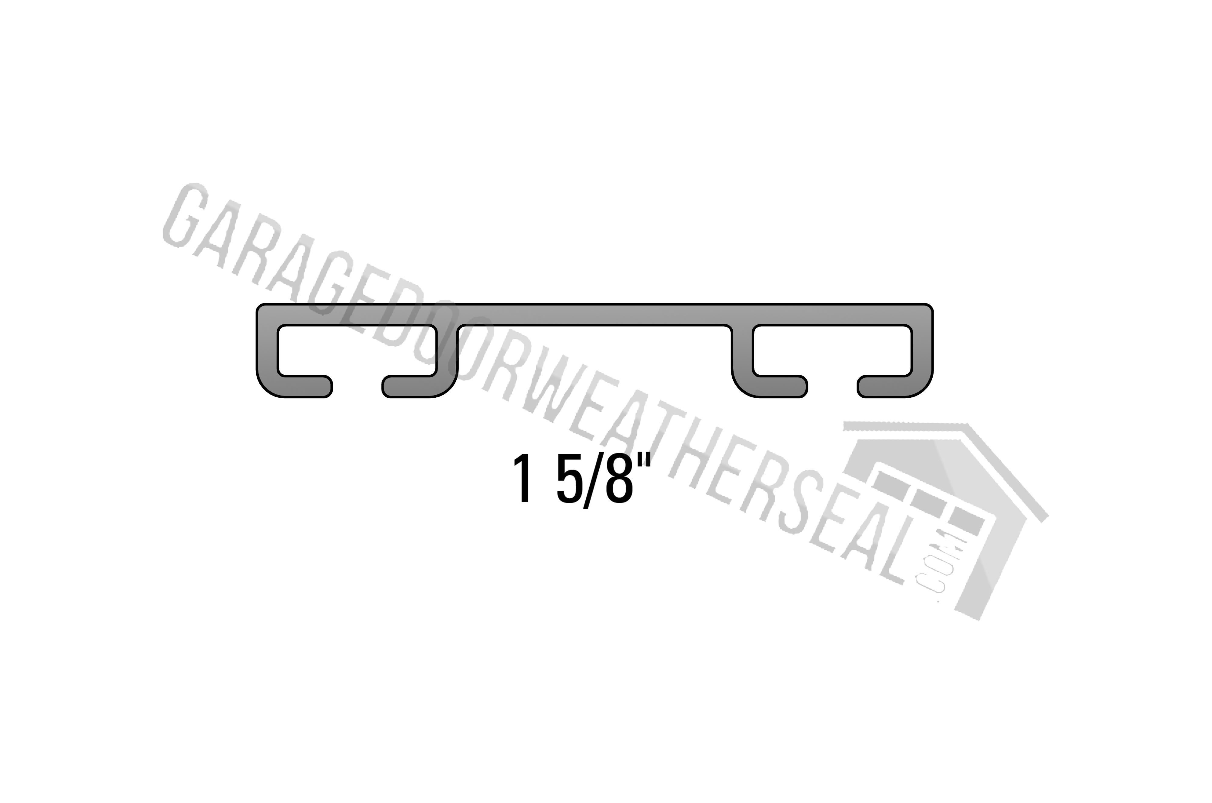 overhead garage door weather seal retainer flat 1 8