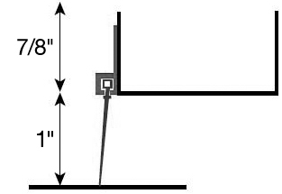 Residential Vinyl Entry Door Sweep Kit- Diagram