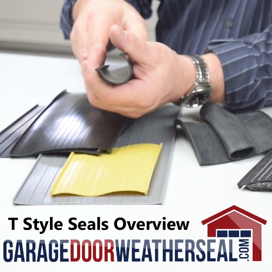 Garage Door Weather Seal T Style Seals Overview