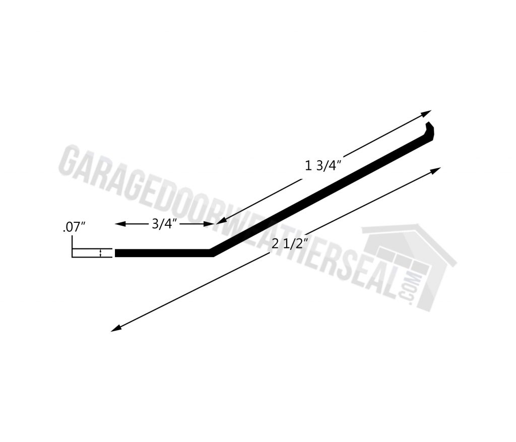 Garage Door Top Seal Line Drawing